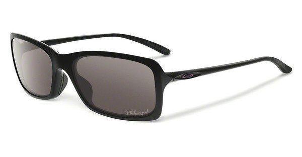 Oakley Damen Sonnenbrille »HALL PASS OO9203«, schwarz, 920301 - schwarz/grau