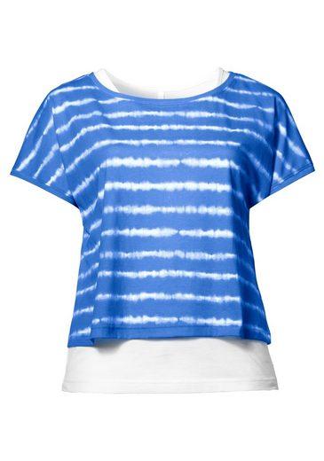 sheeGOTit 2-in-1-Shirt, mit Batikdruck