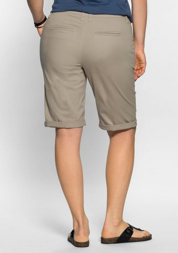 Sheego Casual Bermudas, Elastic Cotton Quality