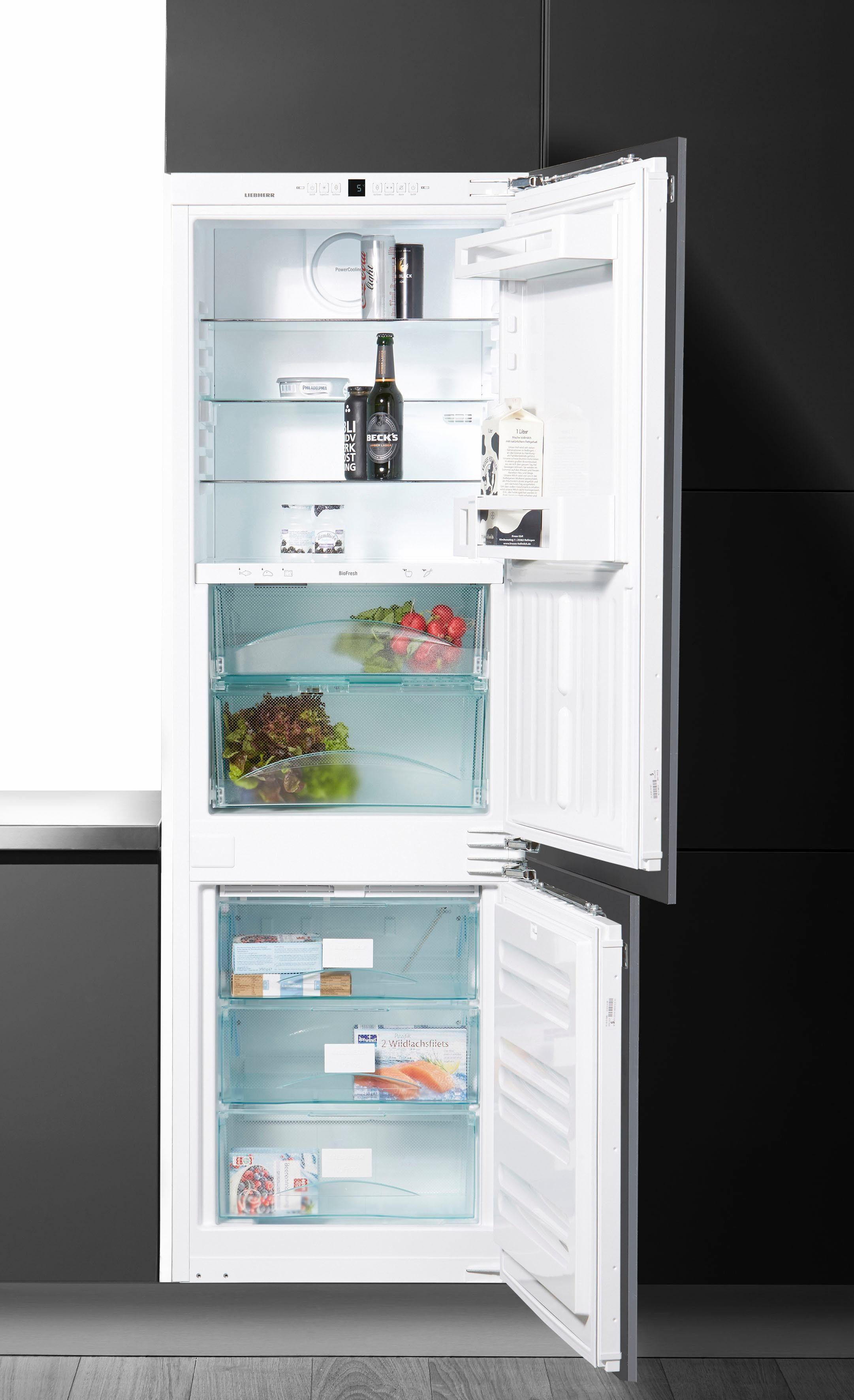 Liebherr integrierbare Einbau-Kühl-Gefrier-Kombination ICBN 3324, Energieklasse A++, 177 cm hoch