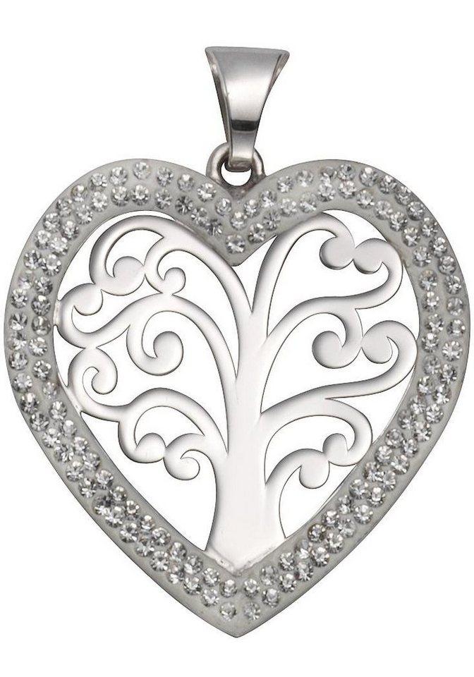 Firetti Herzanhänger »Herz« mit Kristallsteinen | Schmuck > Halsketten > Herzketten | Firetti