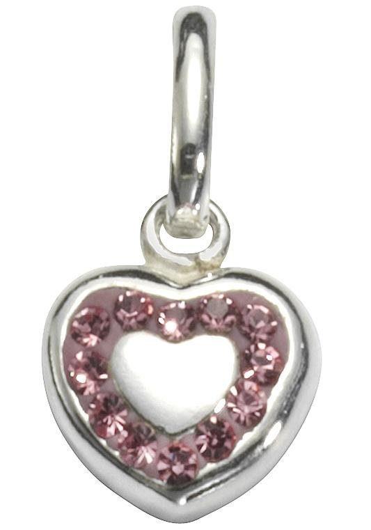 Firetti Kettenanhänger »Herz« mit Kristallsteinen