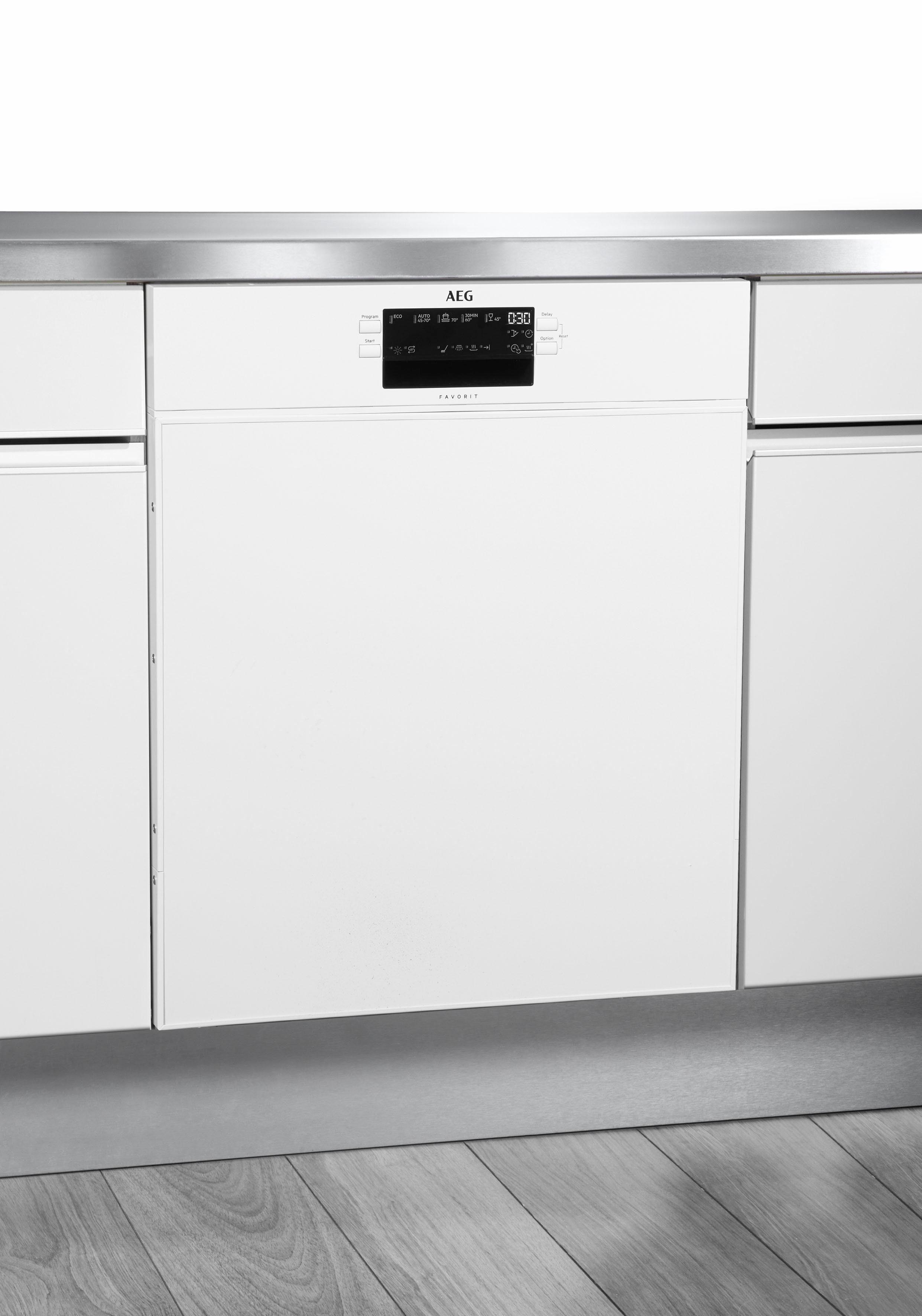 AEG Unterbaugeschirrspüler FUB52600ZW, A++, 9,9 Liter, 13 Maßgedecke
