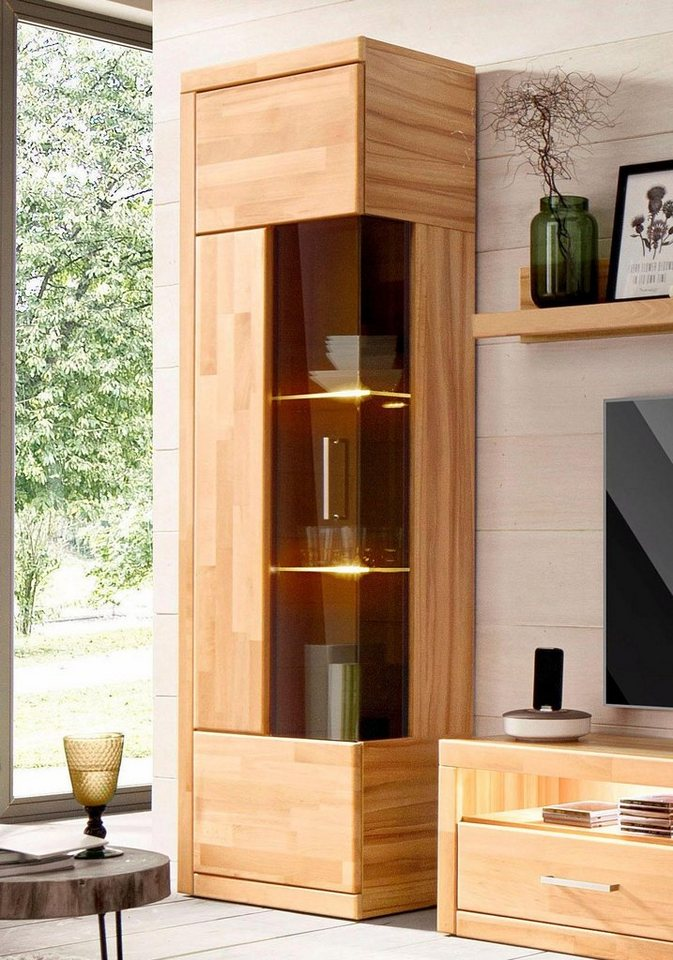 vitrine h he 180 cm teilmassiv online kaufen otto. Black Bedroom Furniture Sets. Home Design Ideas