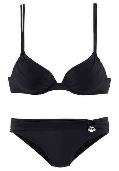 s.Oliver RED LABEL Beachwear Push-up-Bikini mit Zierring an der Hose