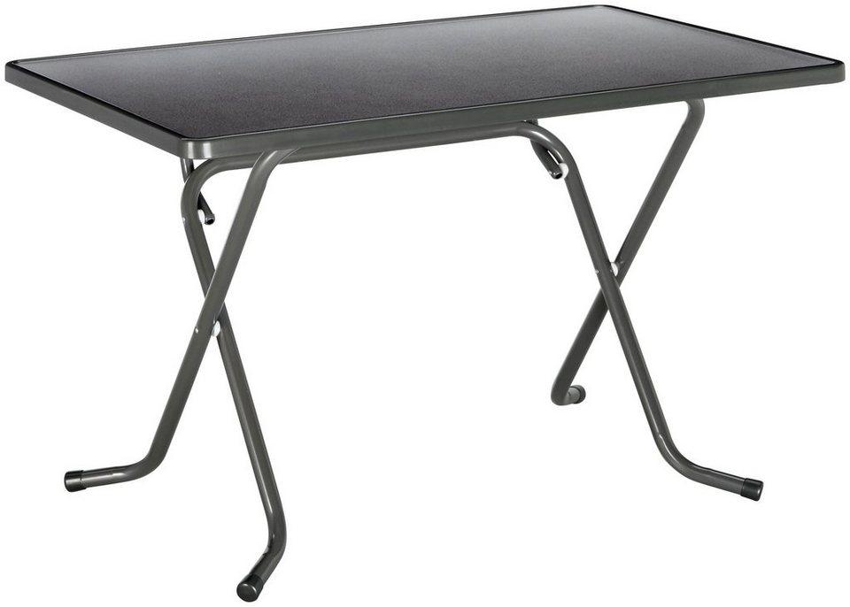 Best Gartentisch Primo Stahl Kunststoff Klappbar 110x70 Cm