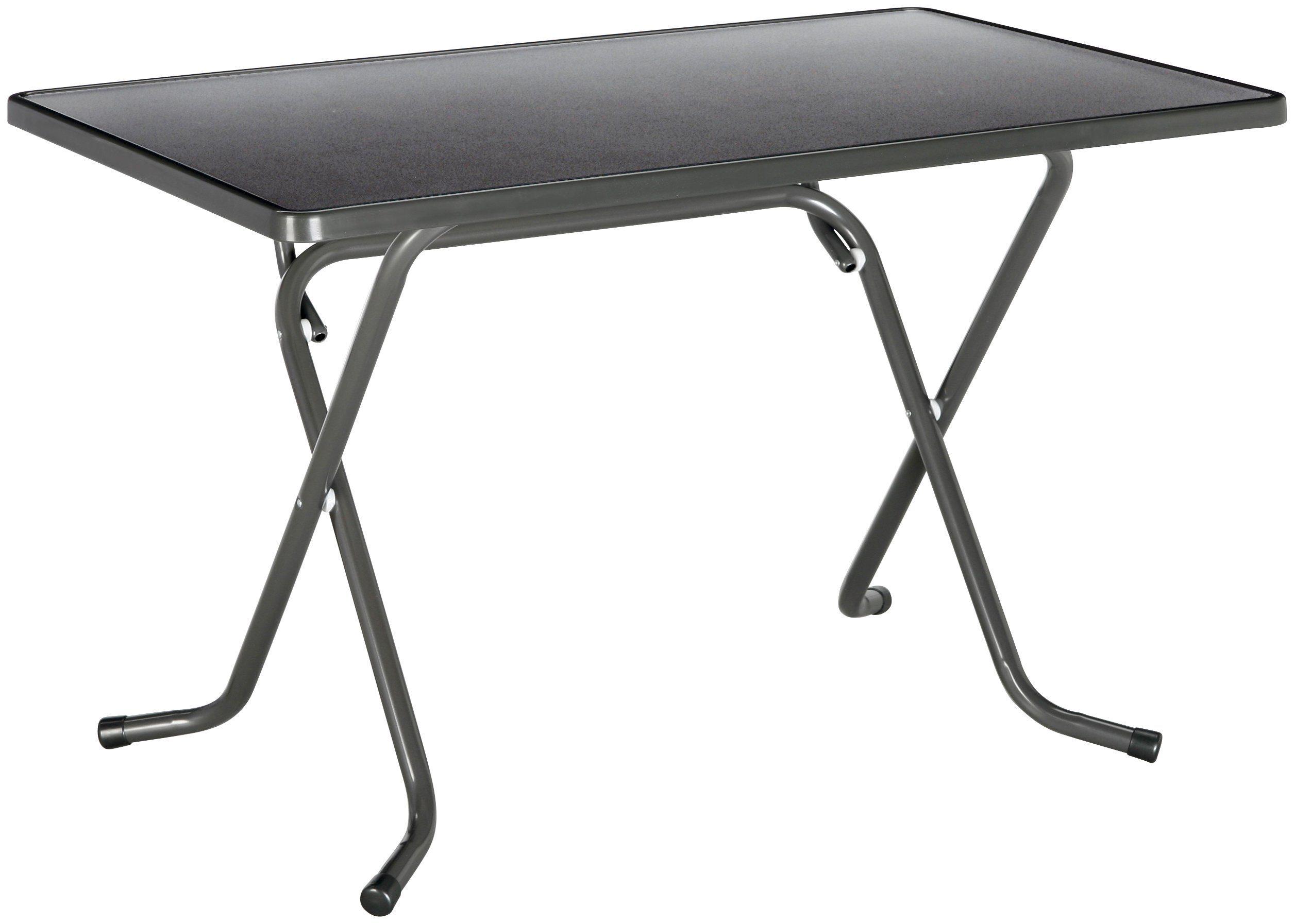Best Gartentisch »Primo«, klappbar, Stahl/Kunststoff, 110x70 cm, anthrazit