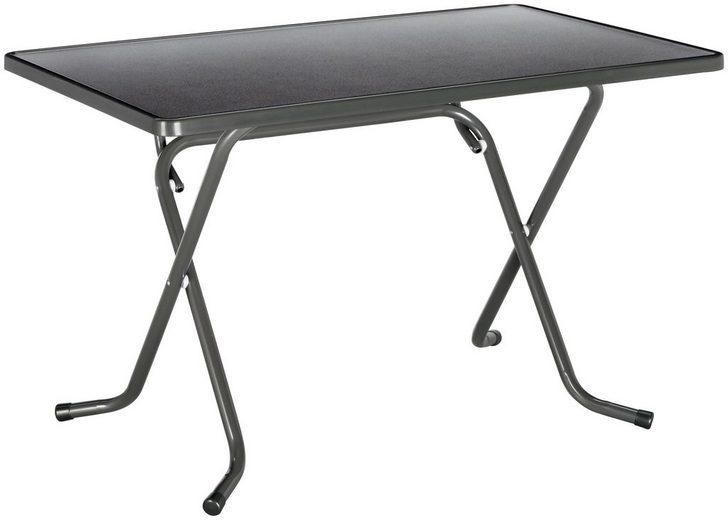 best gartentisch primo stahl kunststoff klappbar 110x70 cm anthrazit online kaufen otto. Black Bedroom Furniture Sets. Home Design Ideas