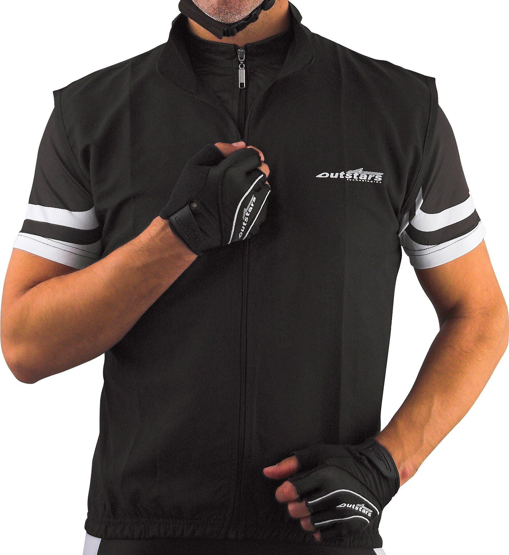 Unisex OUTSTARS Fahrradweste »Outstars« schwarz   04250167734188