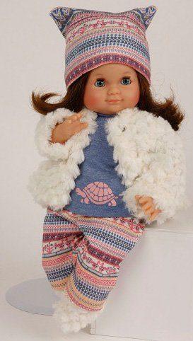 Schildkröt Puppenmanufaktur Puppe mit braunen Haaren, »Schlummerle, 32 cm«