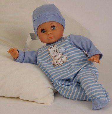 Schildkröt Puppenmanufaktur Babypuppe mit Strampler, blau, »Schlummerle, 32 cm«
