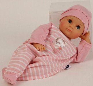 Schildkröt Puppenmanufaktur Babypuppe mit Strampler, rosa, »Schlummerle, 32 cm«
