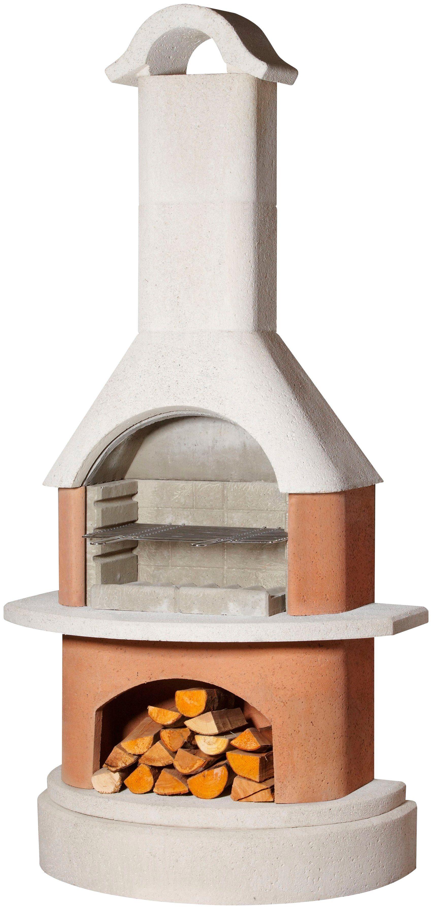 BUSCHBECK Grillkamin »Athen«, B/T/H: 110/65/230 cm, weiß/terrakotta