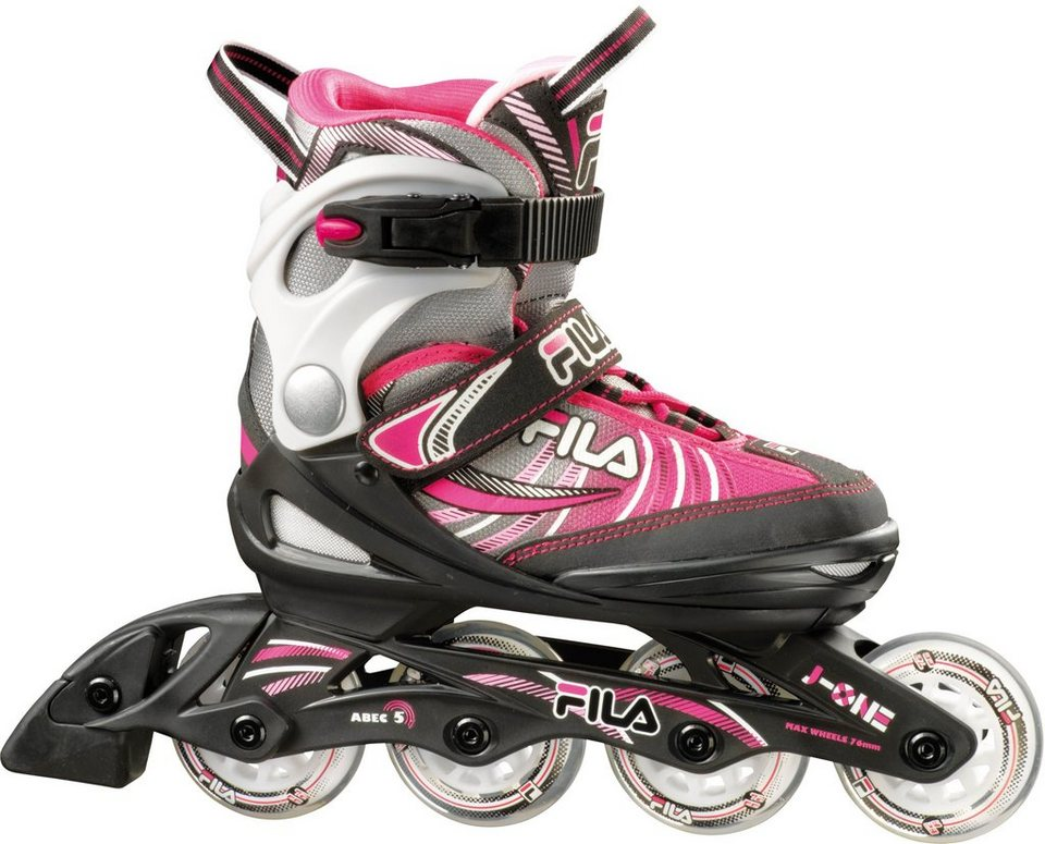 5bd42382e05 Fila Kinder Inline Skates, »J-One Mädchen schwarz/grau/pink« online ...