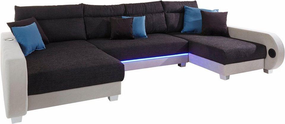 collection ab wohnlandschaft inklusive led beleuchtung. Black Bedroom Furniture Sets. Home Design Ideas