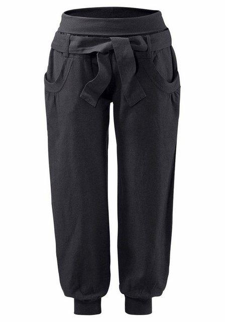 Hosen - Buffalo Strandhose aus Leinen Mix › schwarz  - Onlineshop OTTO