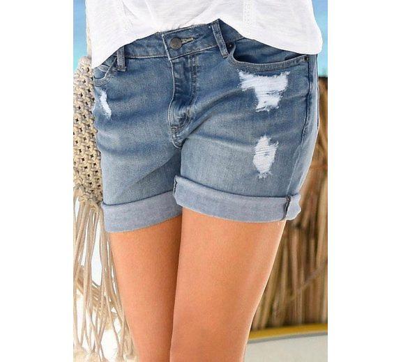 Buffalo Jeans-Bermudas mit Destroyed-Effekten Steckdose Kostengünstig Großer Verkauf Online Spielraum Niedrig Kosten Freies Verschiffen Offiziell epjpGLy
