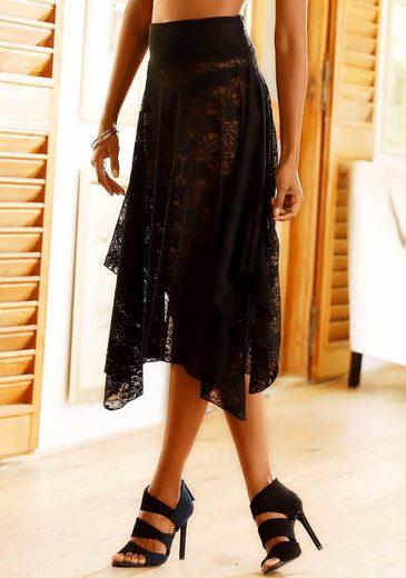 Kleid Spitze 3 Multiway Lascana rock Aus Mit Transparenter Tragevarianten xqE4R7wA
