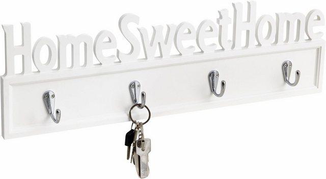 Garderobenleisten und Haken - Home affaire Hakenleiste »Home Sweet Home«  - Onlineshop OTTO