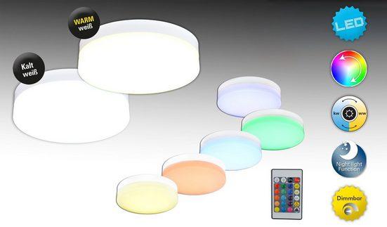 näve LED Deckenleuchte »Cool«  mit RGB-Farbwechsler