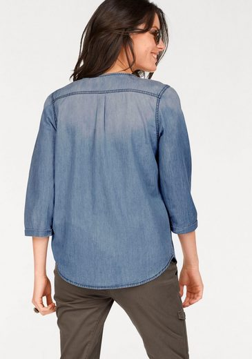 Aniston Jean Blouse With Decoration