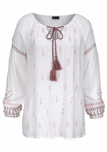 Tamaris Slip Blouse, With Elaborate Embroidery