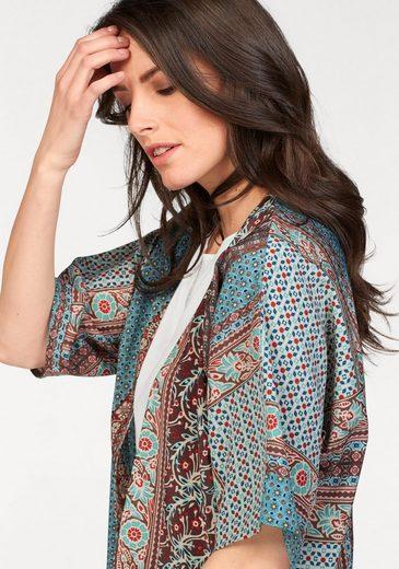 Tamaris Druckbluse, in Kimono-Form