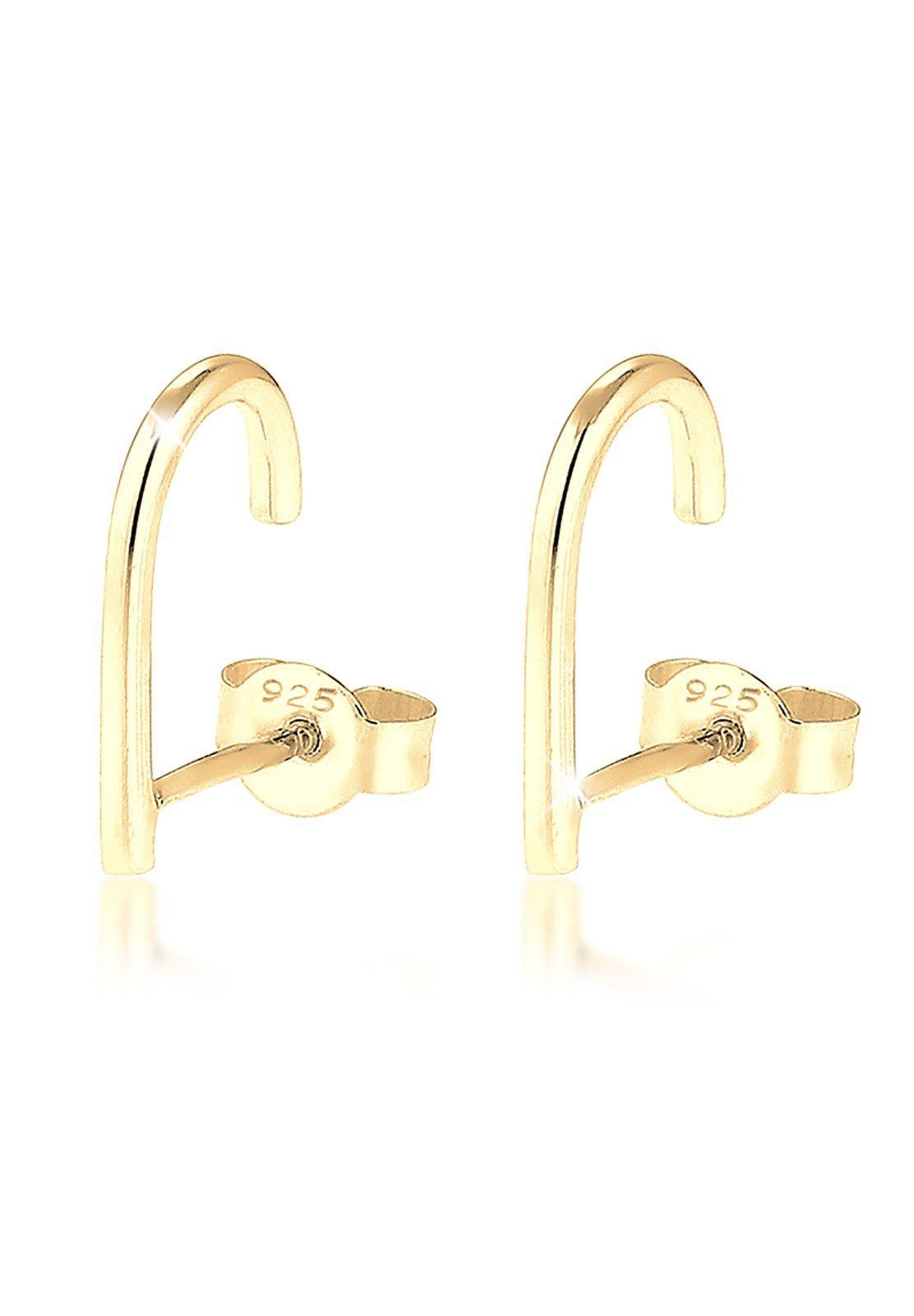 Elli Ohrringe »Suspender Geo Minimal 925 Silber vergoldet«