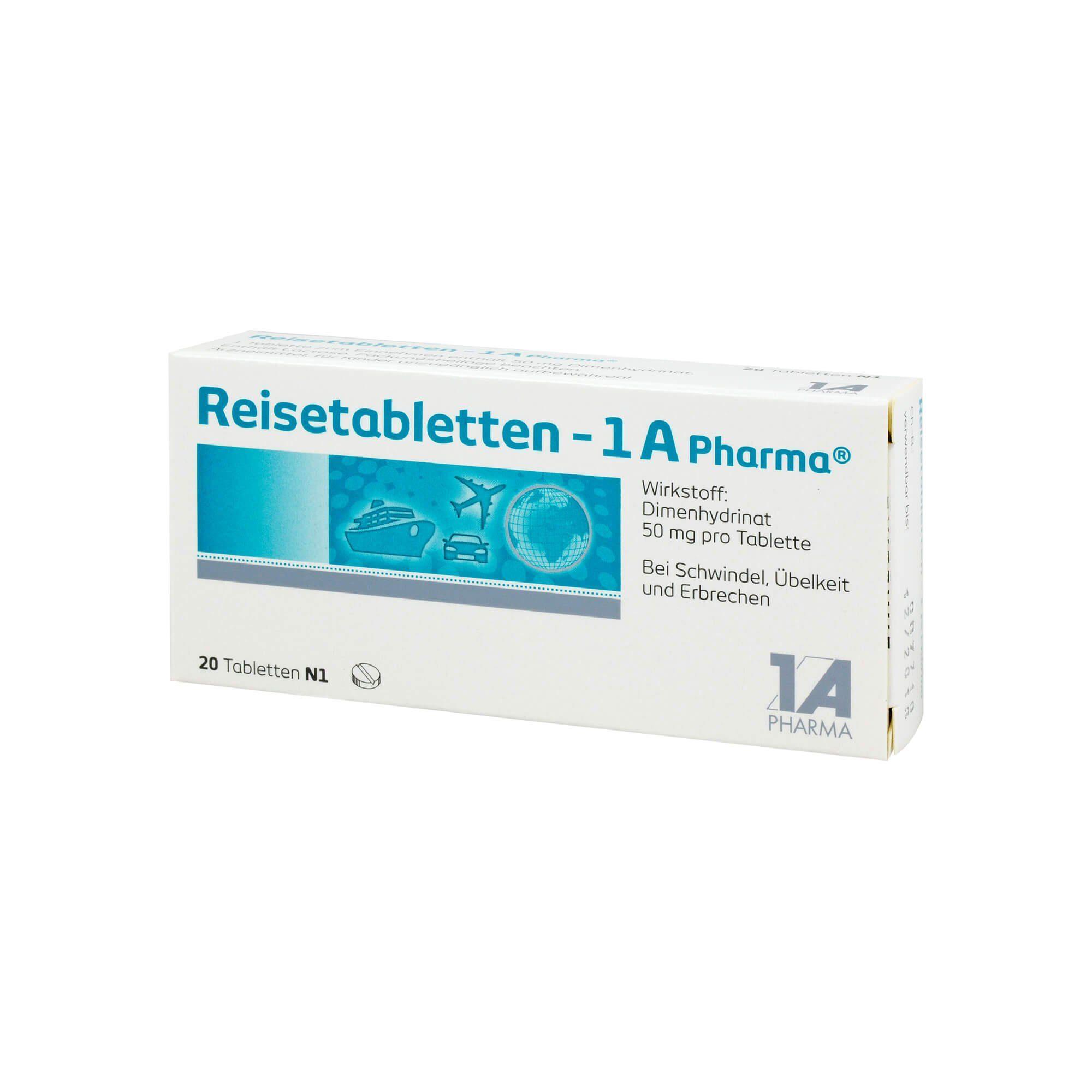 Reisetabletten 1A Pharma, 20 St
