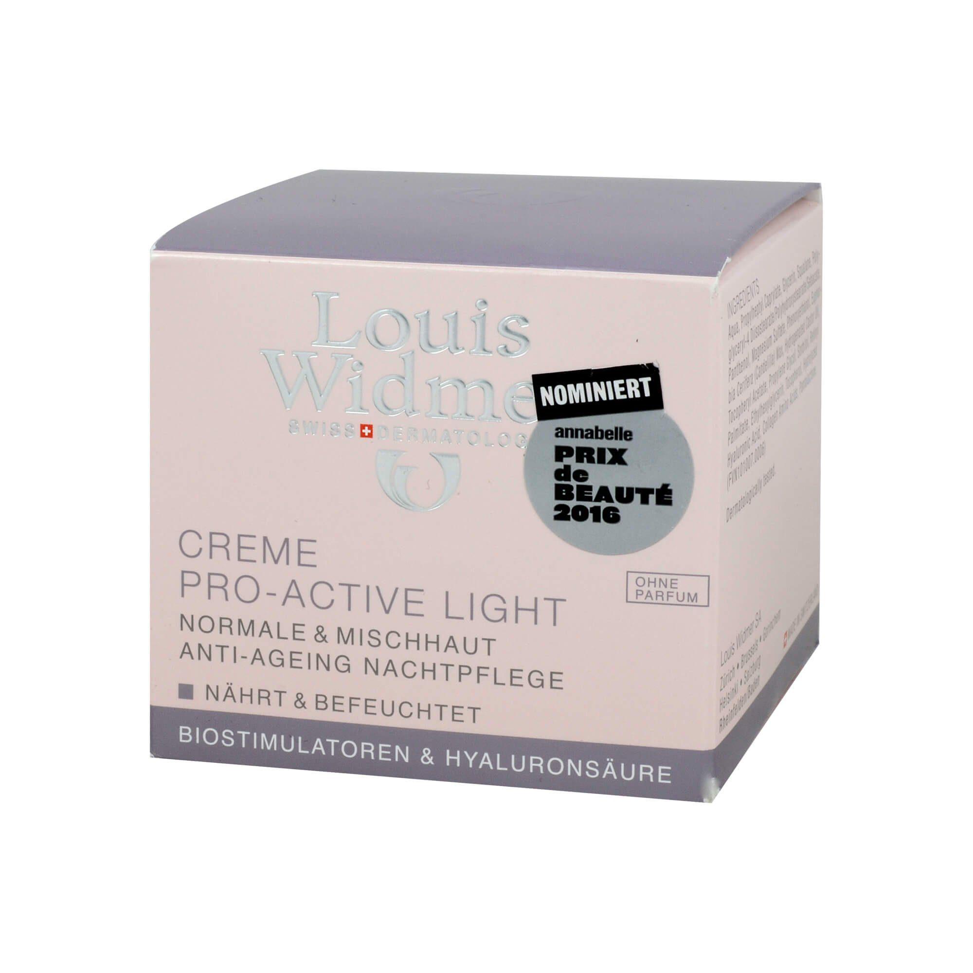 Louis Widmer Creme Pro-Active Light unparfümiert (, 50 ml)