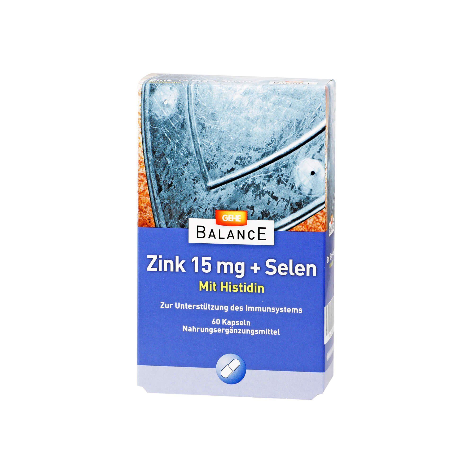 Gehe Balance Zink 15 mg+Selen Kapseln , 60 St