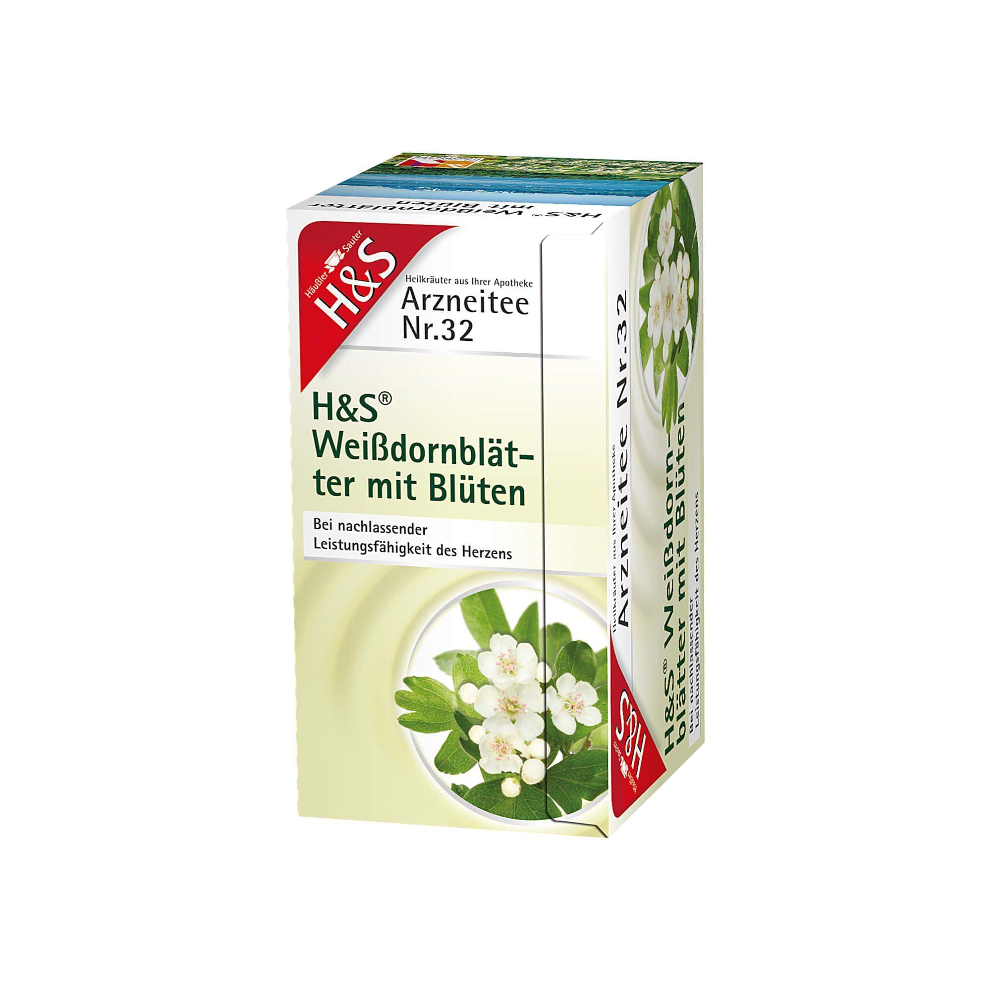 H&S Weißdornblätter mit Blüten , 20 St