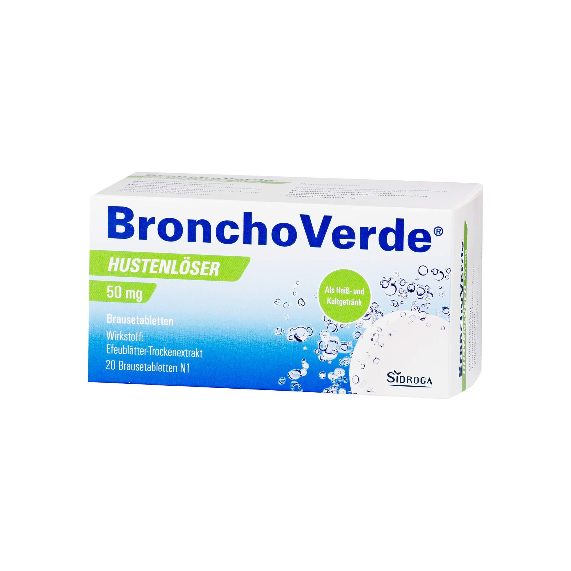 Bronchoverde BronchoVerde Hustenlöser 50 mg Brausetabletten , 20 St
