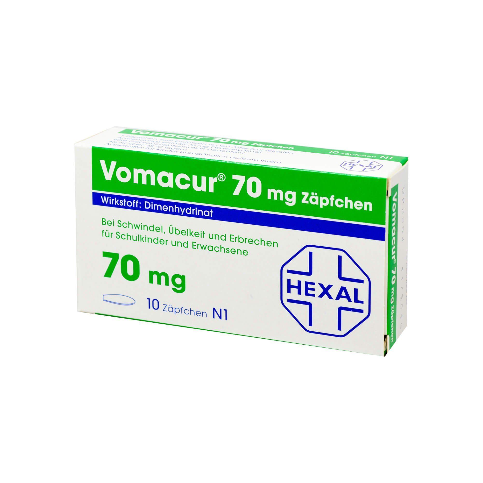 Vomacur 70 Suppositorien, 10 St