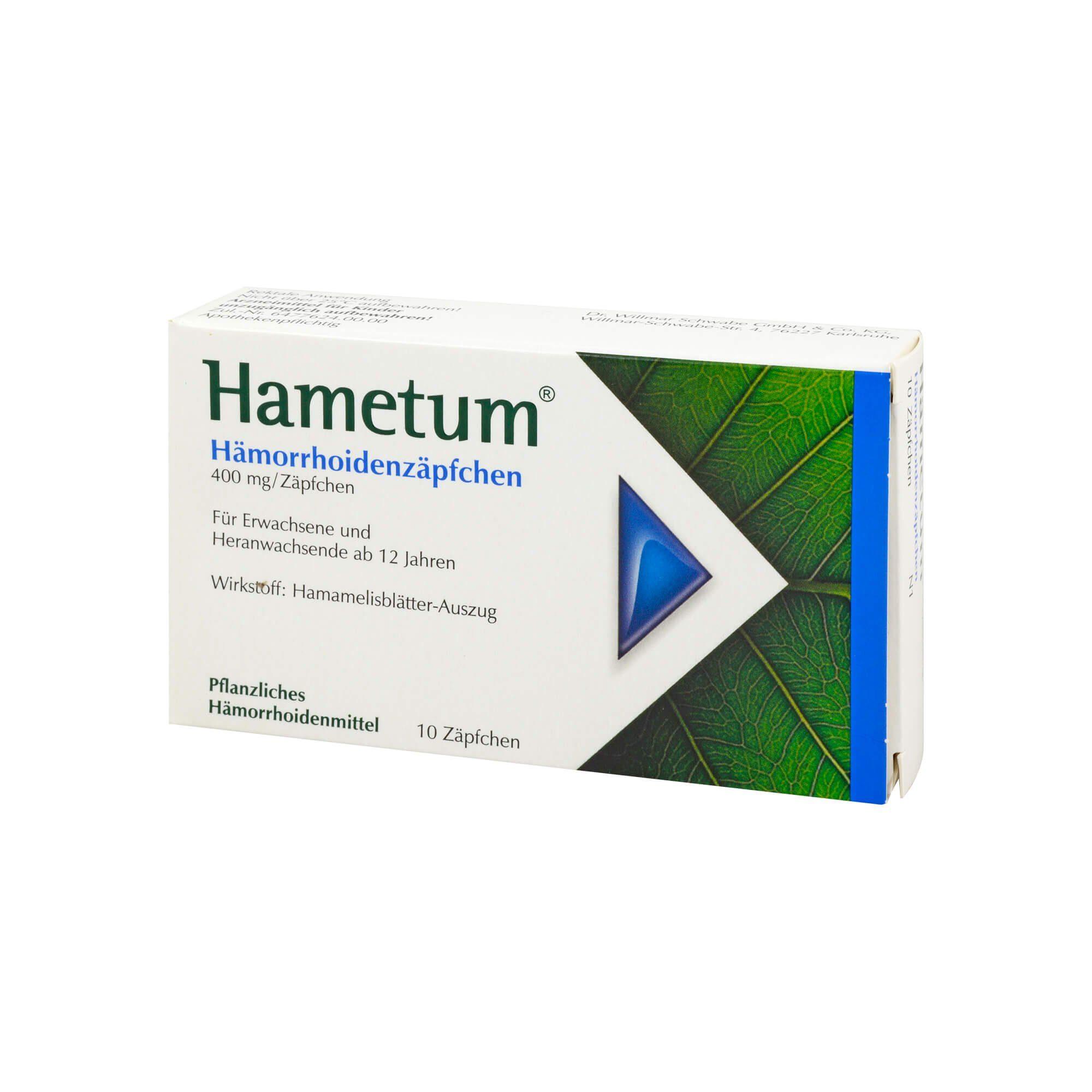 Hametum Hametum Hämorrhoidenzäpfchen , 10 St