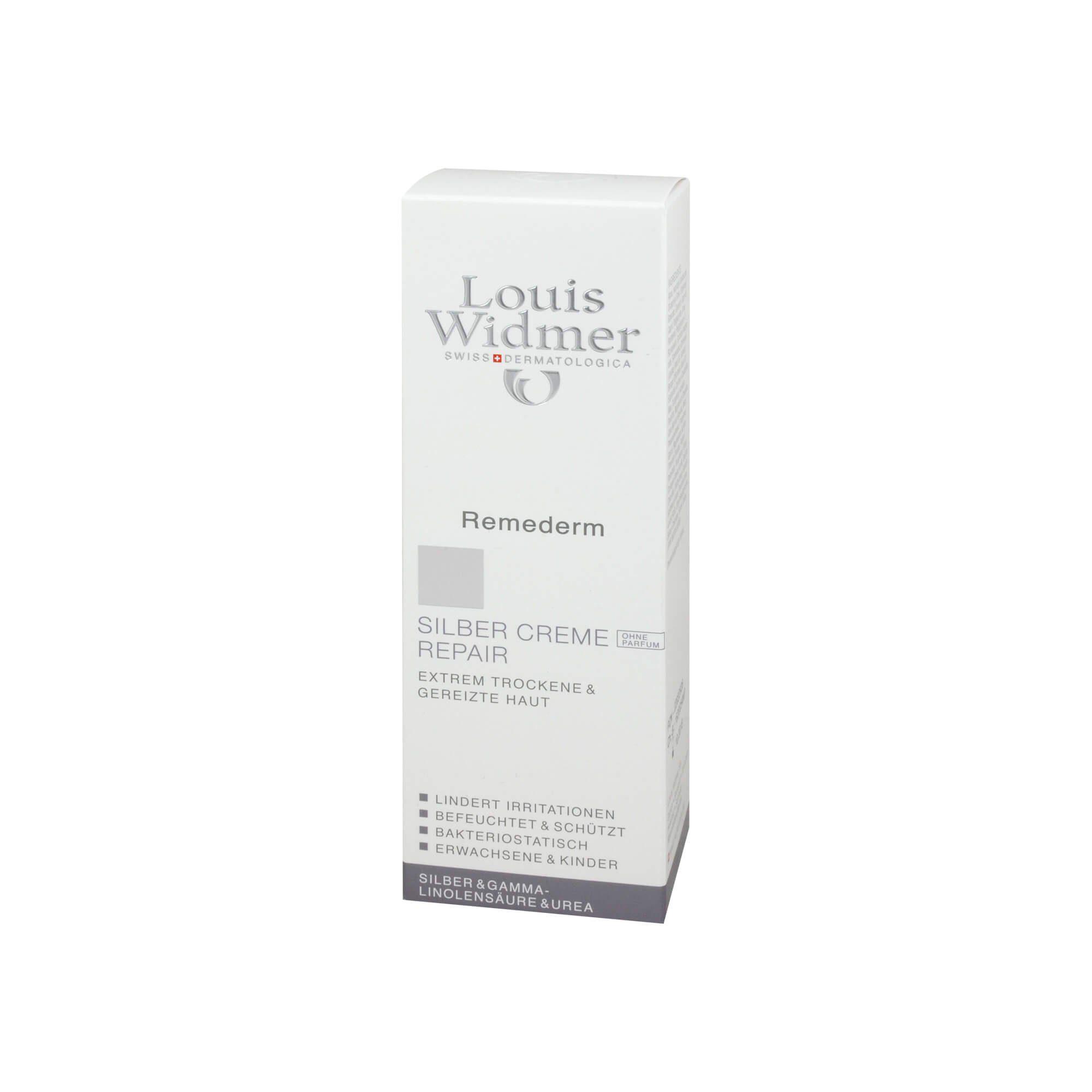 Widmer Remederm Silber Creme Repair unparfümiert, 75 ml