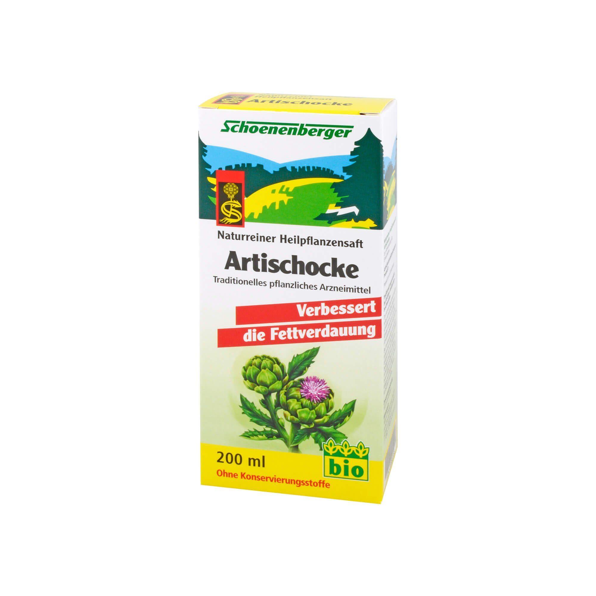 Artischockensaft Schoenenberger, 200 ml