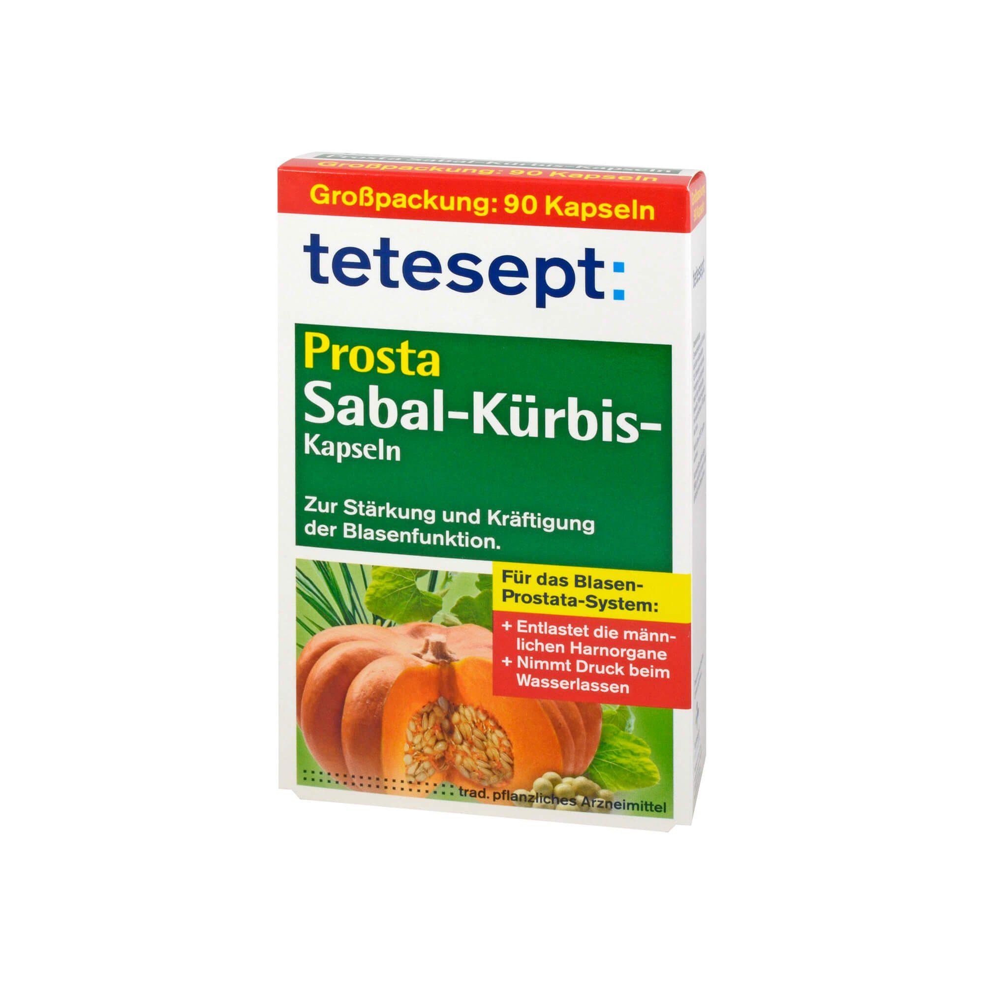 Tetesept Prosta Sabal-Kürbis-Kapseln , 90 St