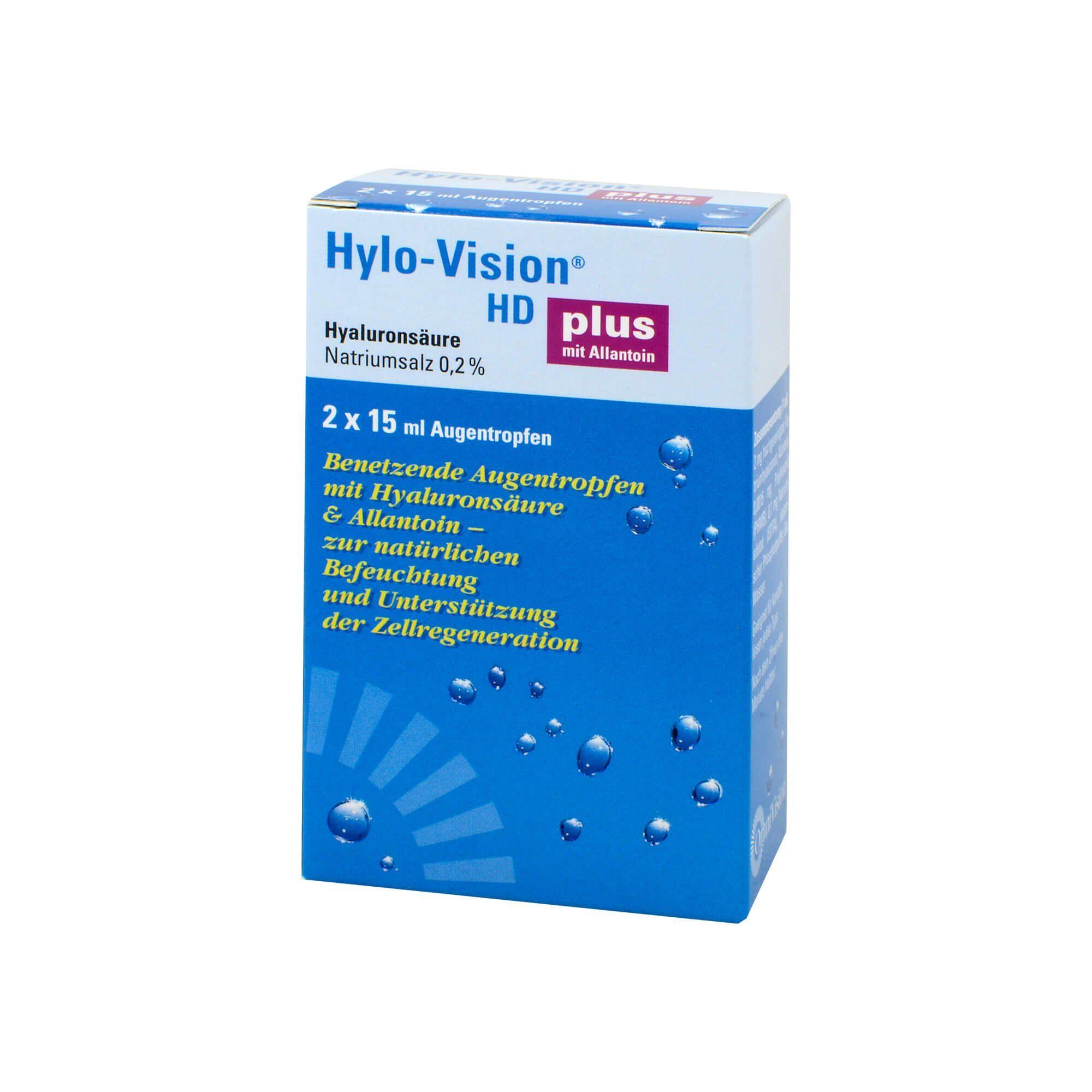 Hylo-Vision HD Plus Augentropfen, 2X15 ml