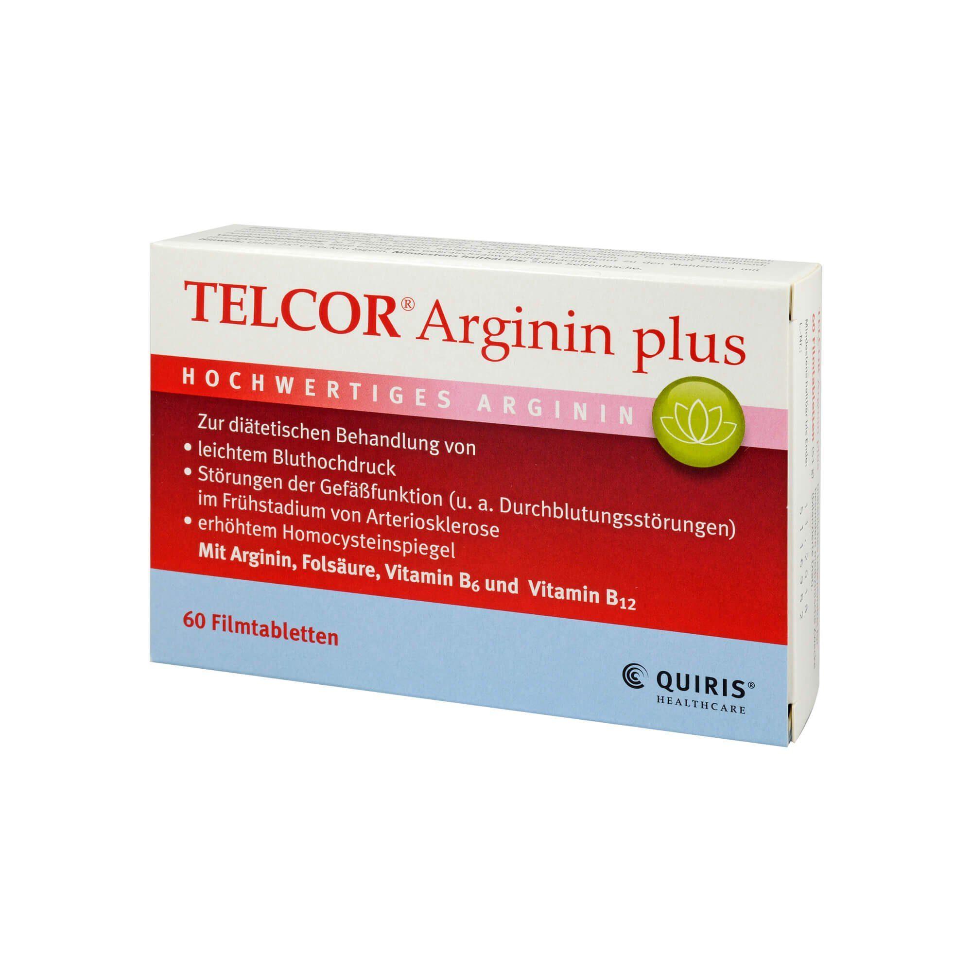 Telcor Arginin plus Filmtabletten, 60 St