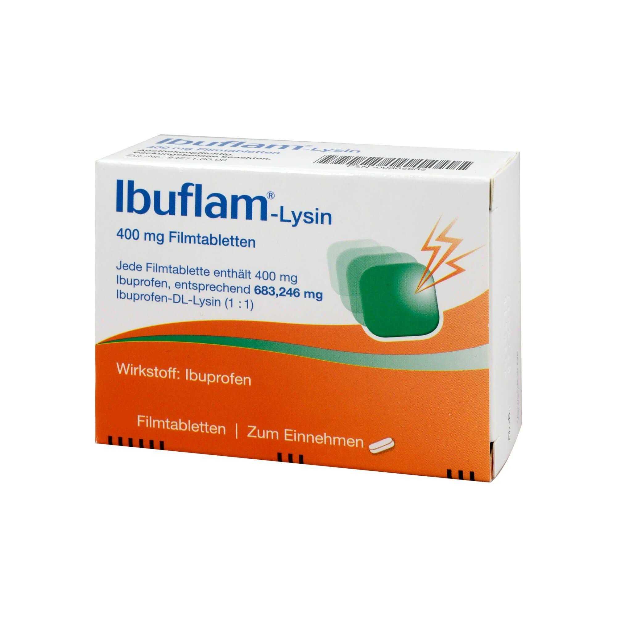 Ibuflam Ibuflam-Lysin 400 mg Filmtabletten , 12 St