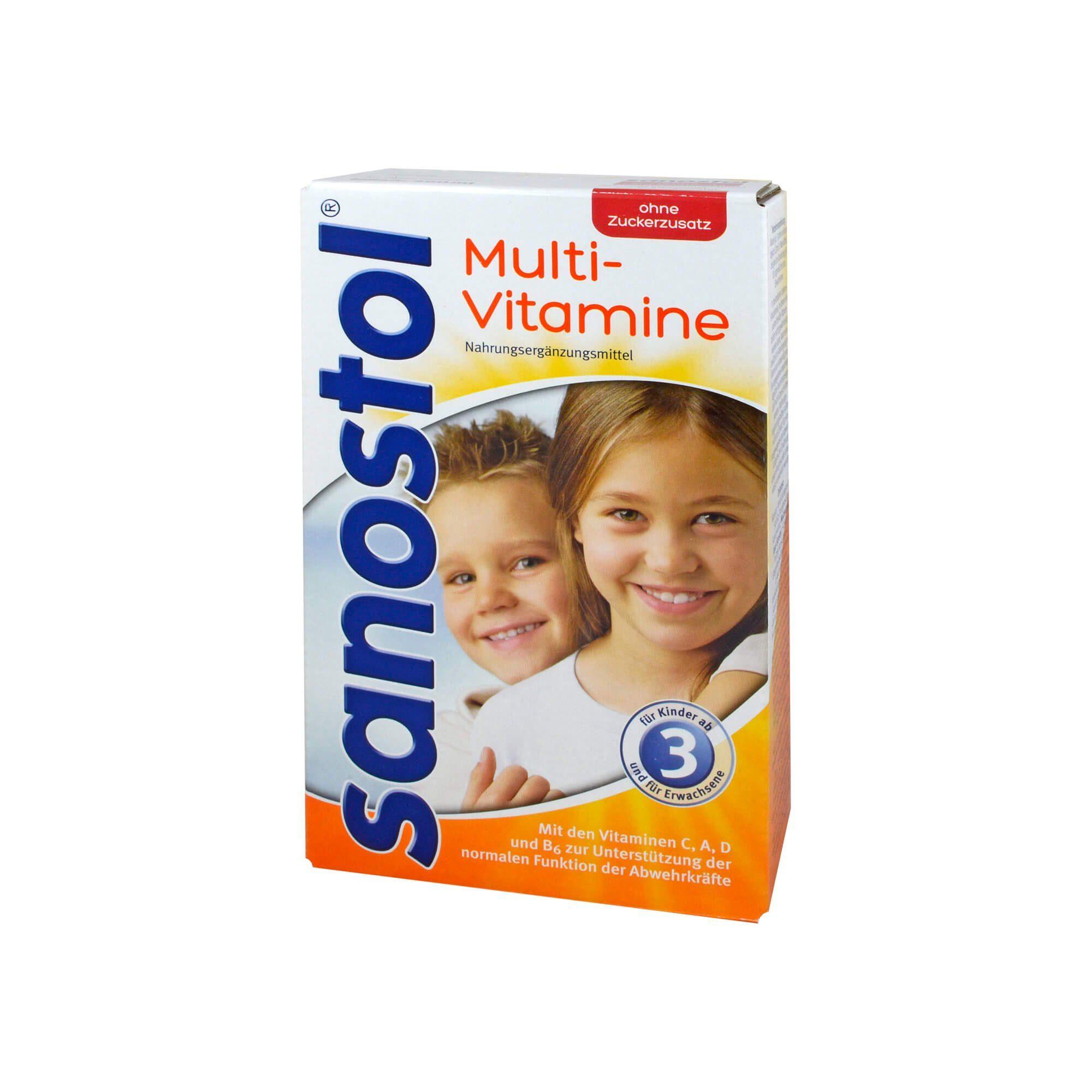 SANOSTOL Sanostol Multi-Vitamin Saft ohne Zuckerzusatz, 460 ml