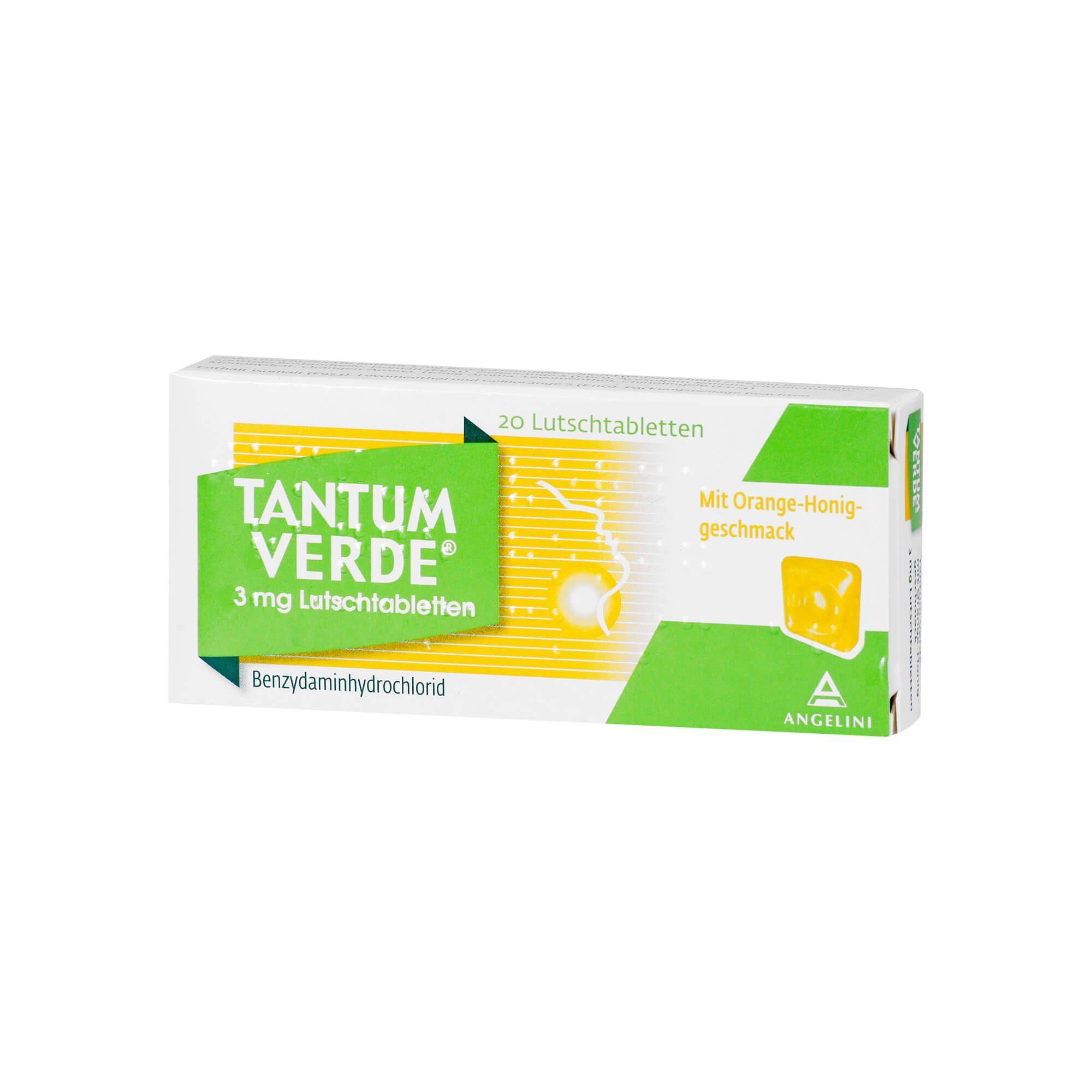 Tantum Verde Tantum Verde 3 mg Lutschtabletten Orange-Honig , 20 St