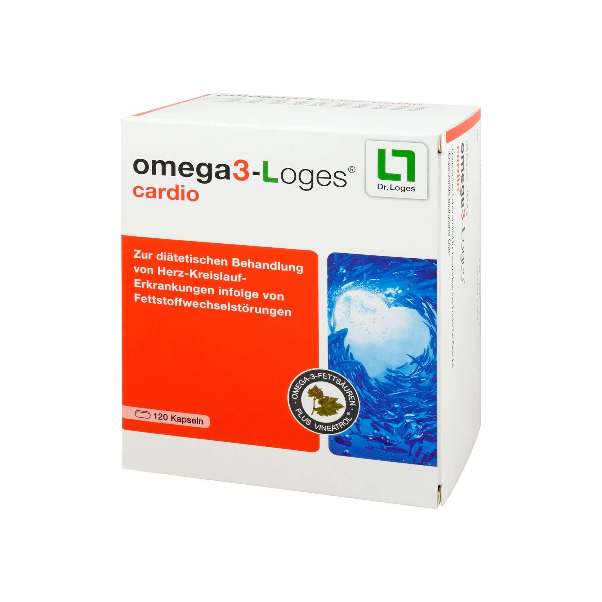 Omega3-loges cardio Kapseln , 120 St
