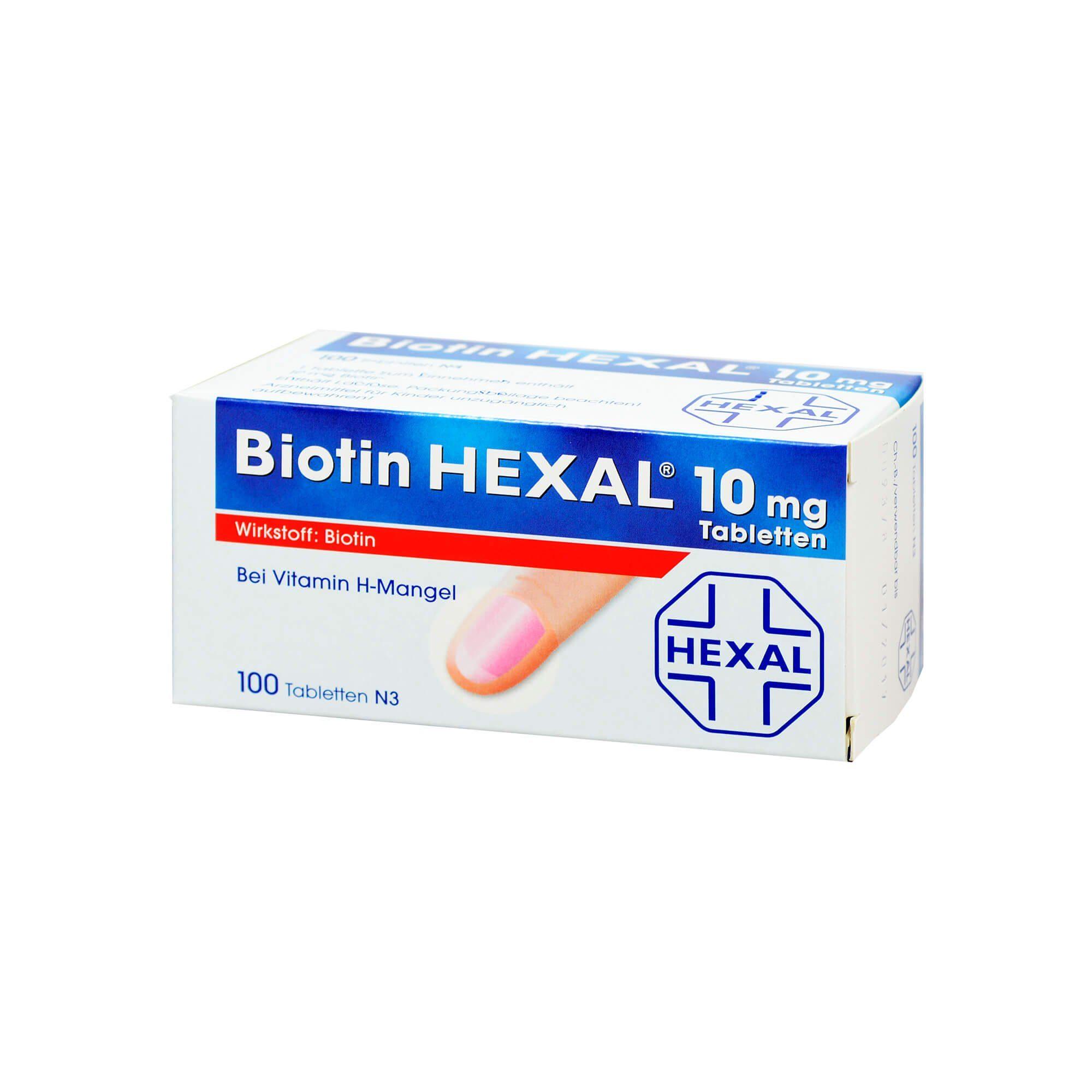 Biotin Hexal 10 mg, 100 St