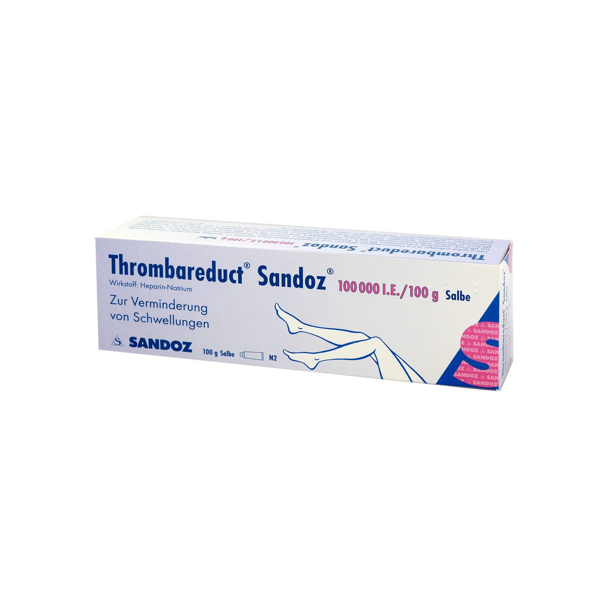 Thrombareduct Sandoz 100. 000 I.E. Salbe , 100 g