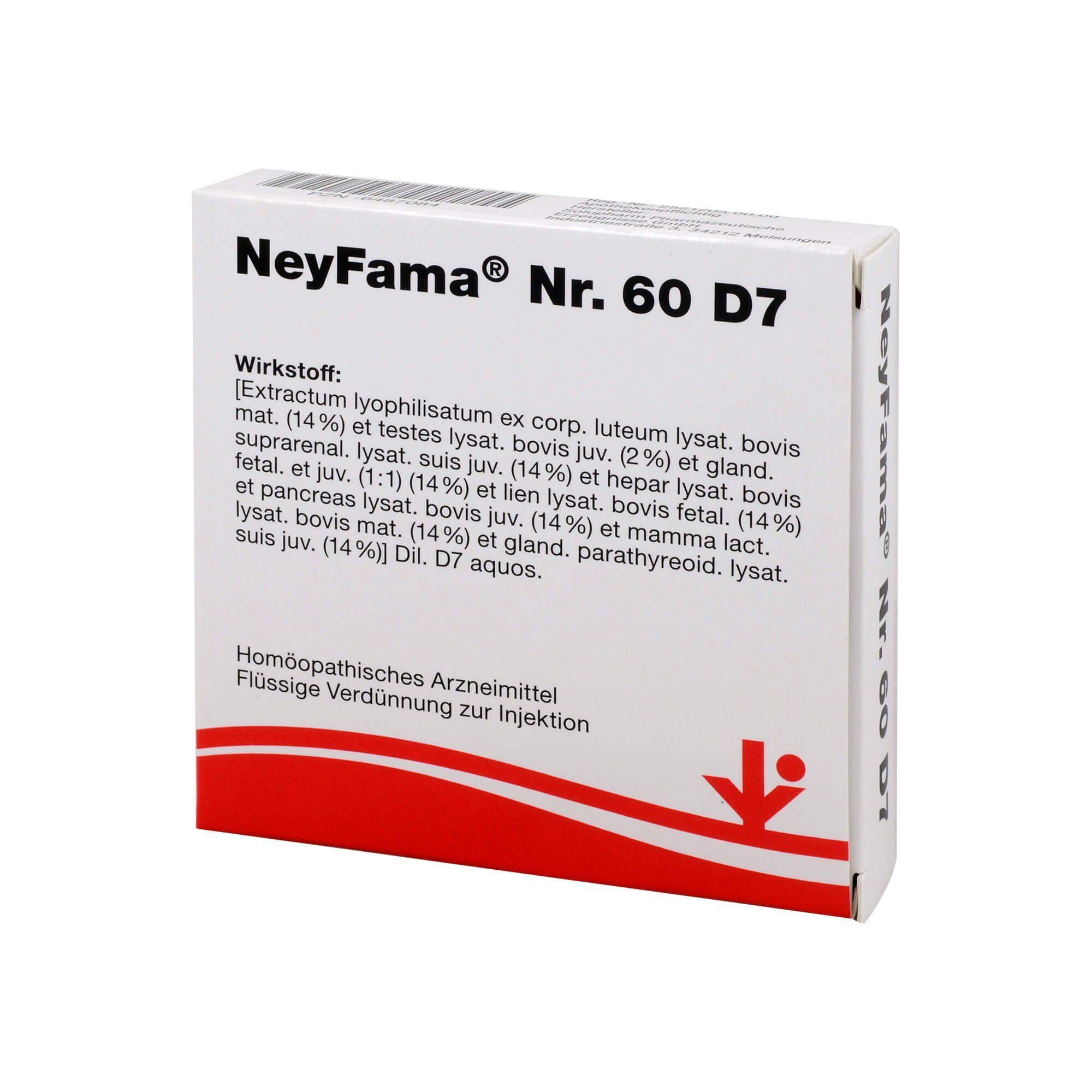 Neyfama Nr.60 D 7 Ampullen , 5X2 ml