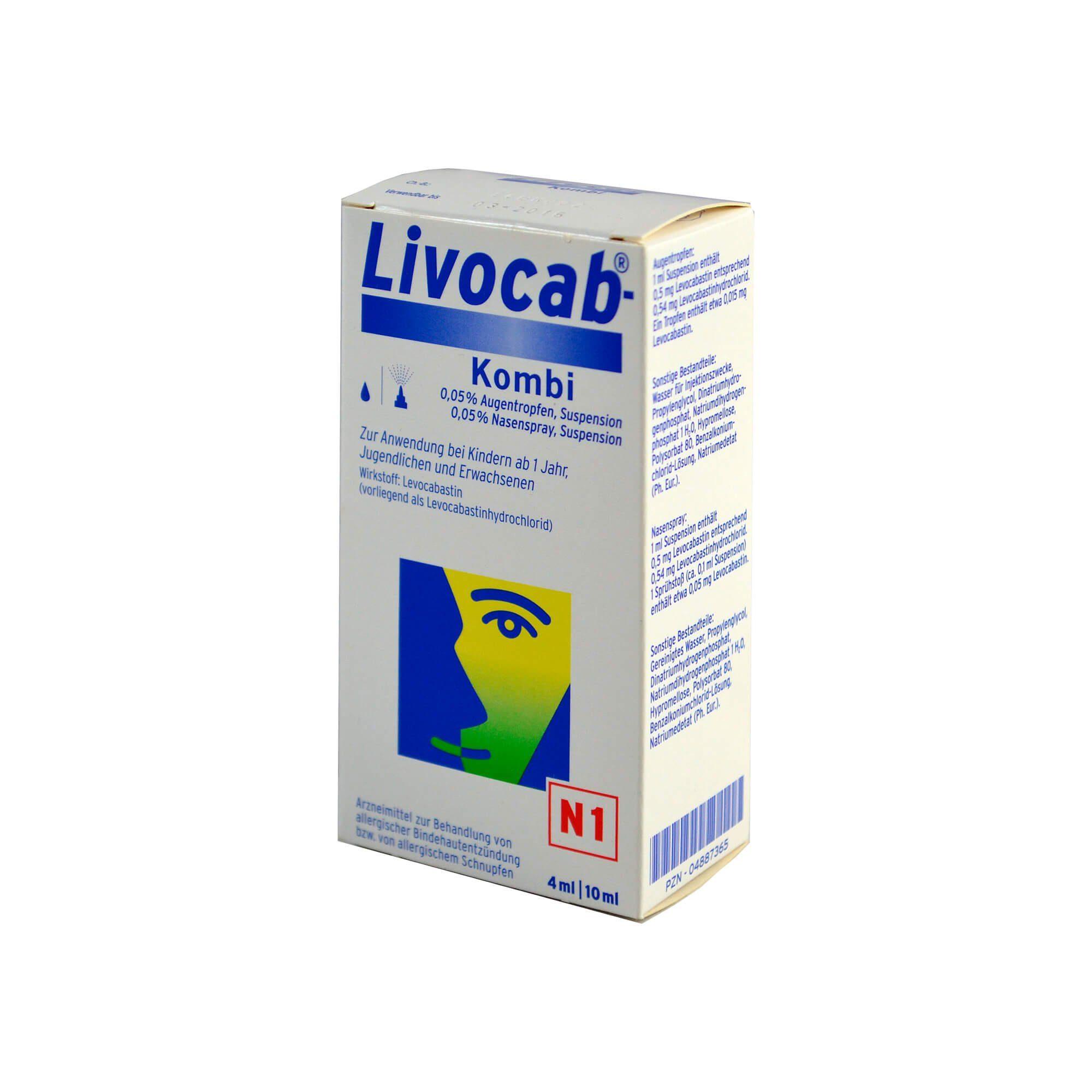 Livocab direkt Kombi 4ml Augentropfen und 10ml Nasenspray , 1 St