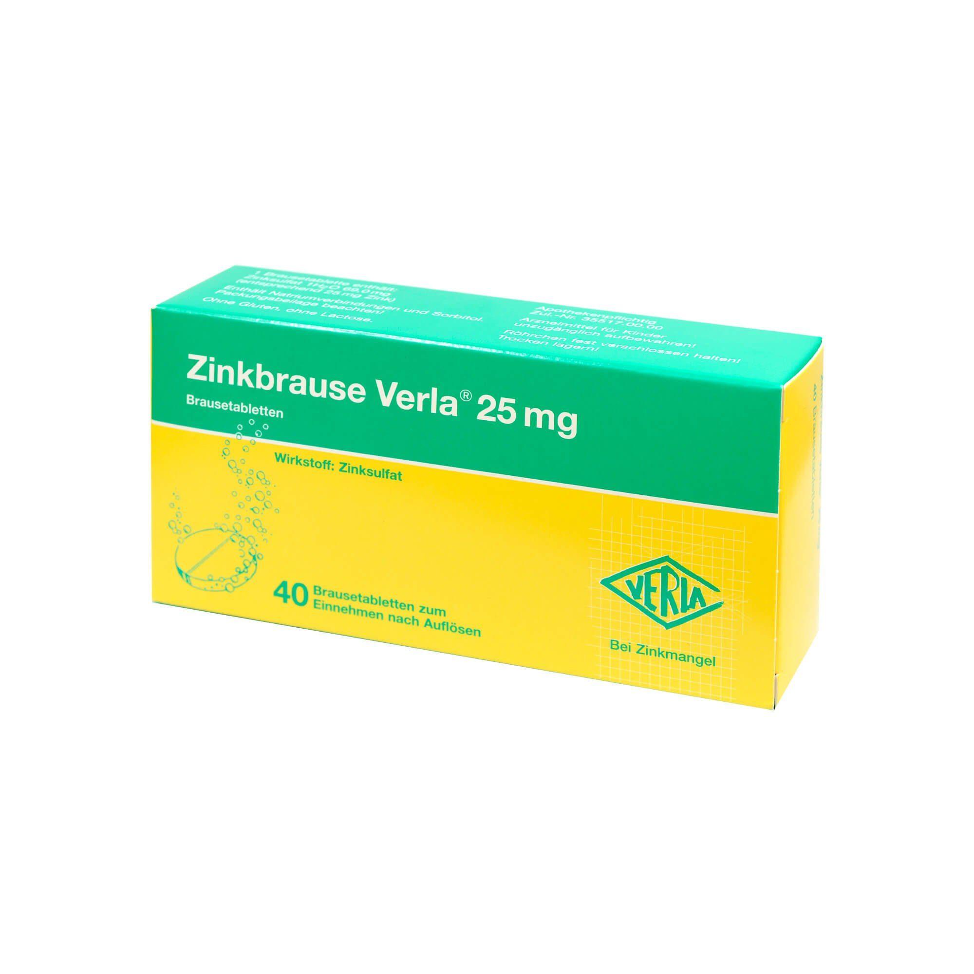 Zinkbrause Verla 25 mg, 100 St
