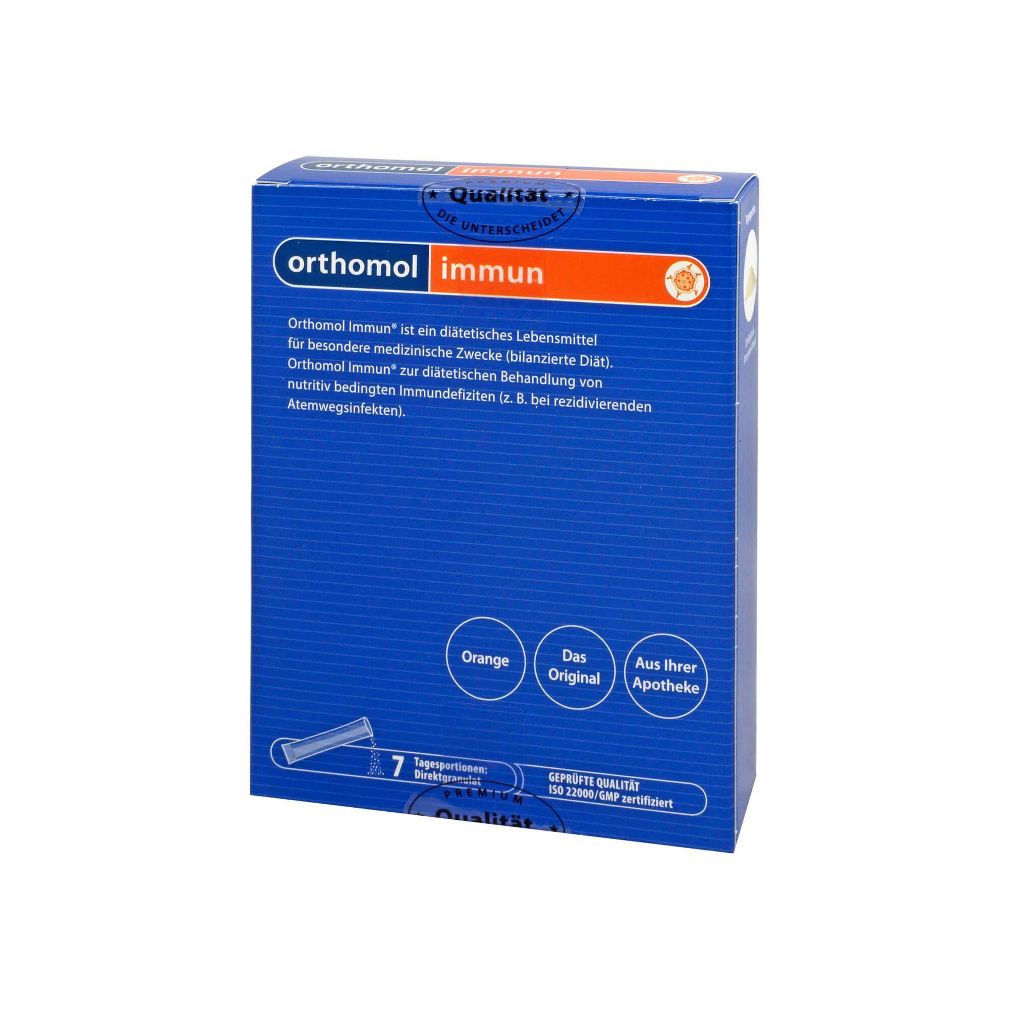 Orthomol Immun Direktgranulat Orange, 7 St